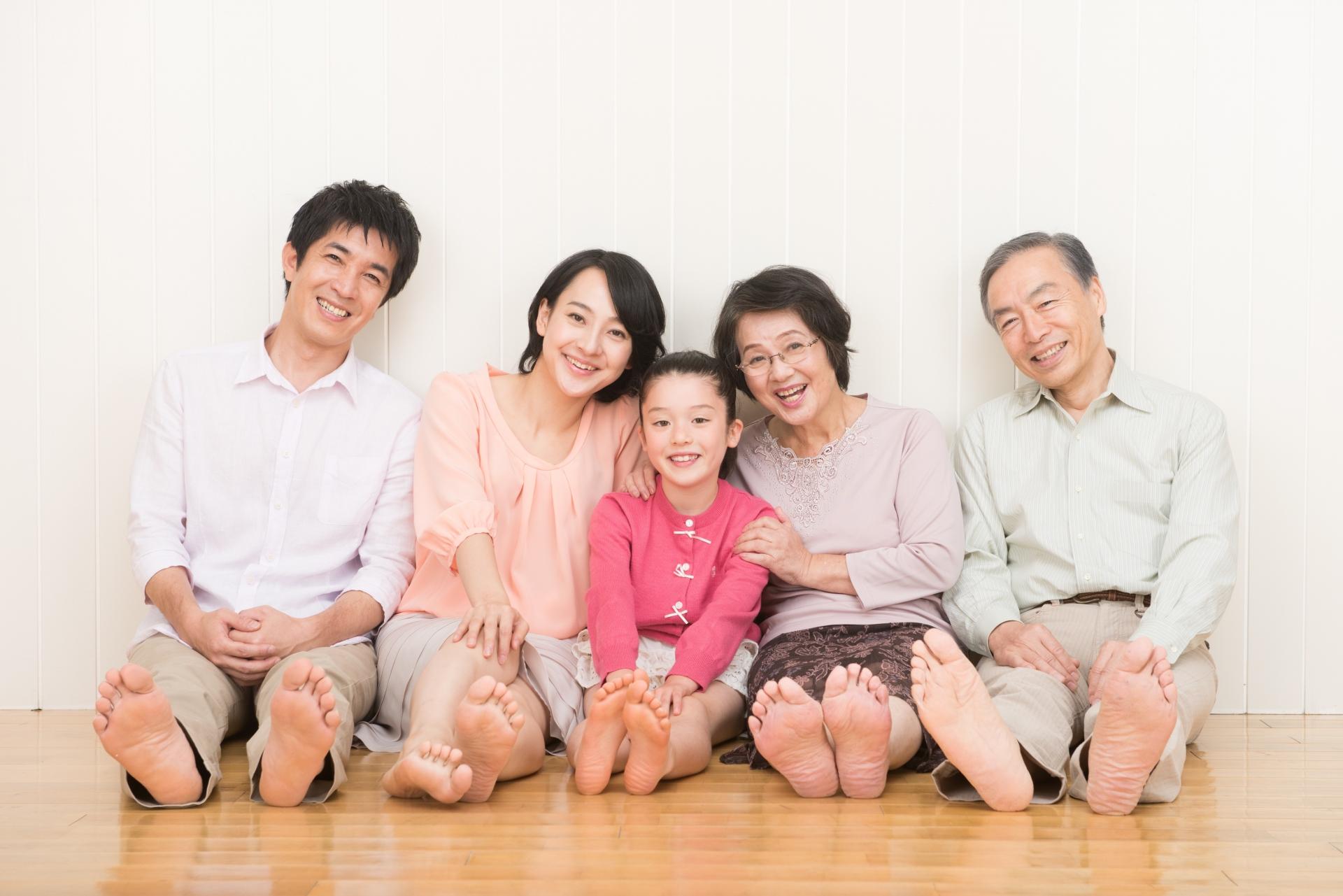 家族との写真